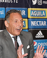 BOGOTA - COLOMBIA- 03-01-2017: Miguel Angel Russo, of Argentina is the new coach of Millonarios during a press conference. Russo 60 years has worked in clubs like Estudiantes de la Plata, Rosario Central, Colon de Santa Fe, Boca Juniors in Argentina, Monarcas Morelia in Mexico, Universidad de Chile in Chile, Union Deportiva Salamanca in Spain, signs the contract initially for one year. Photo: VizzorImage / Luis Ramirez / Staff.
