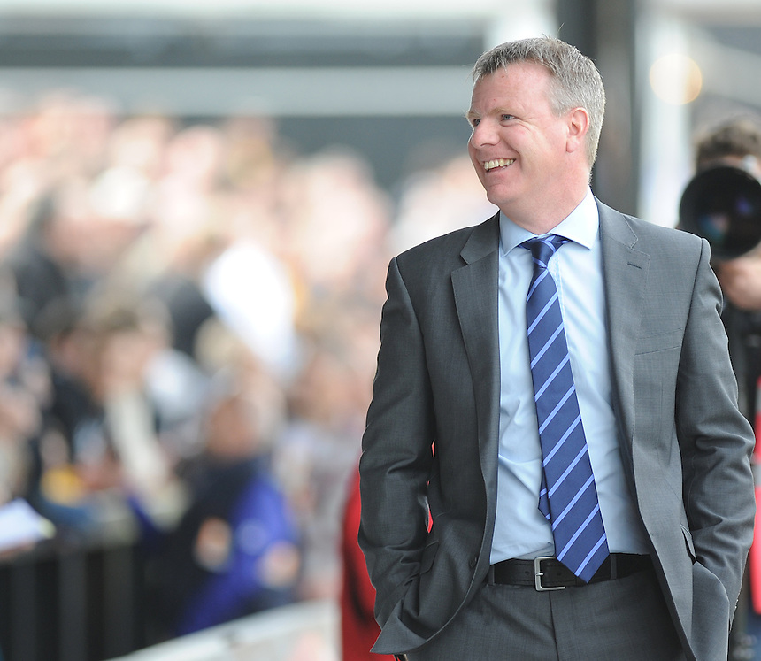 Portsmouth's Manager Andy Awford in action during todays match  <br /> <br /> Photo by Ashley Crowden/CameraSport<br /> <br /> Football - The Football League Sky Bet League Two - Newport County AFC v Portsmouth - Saturday 29th March 2014 - Rodney Parade - Newport<br /> <br /> &copy; CameraSport - 43 Linden Ave. Countesthorpe. Leicester. England. LE8 5PG - Tel: +44 (0) 116 277 4147 - admin@camerasport.com - www.camerasport.com