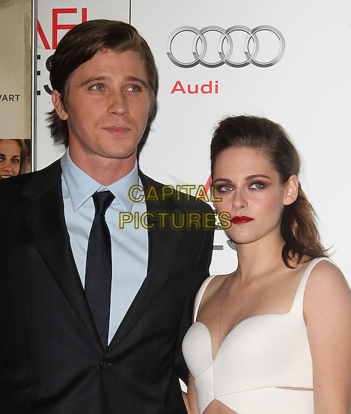 Garrett Hedlund, Kristen Stewart.AFI FEST 2012 'On The Road' gala screening, Grauman's Chinese Theatre, Hollywood, California, USA..3rd November 2012.headshot portrait white top suit blue shirt black suit shirt.CAP/ADM/KB.©Kevan Brooks/AdMedia/Capital Pictures.