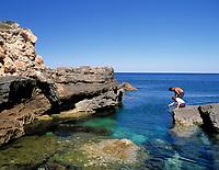Spanien, Balearen, Ibiza (Eivissa), Portinatx: Cala Portinatx | Spain, Balearic Islands, Ibiza (Eivissa), Portinatx: Cala Portinatx