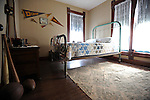 Former U.S. President Ronald Reagan's boyhood bedroom is seen in Dixon, Illinois on October 26, 2008.