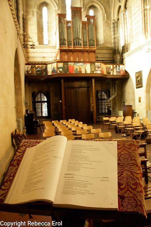 The interior of the Crimean Church in Beyoglu, Istanbul, Turkey