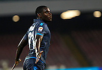 Esultanza Duvan Zapata  durante l'incontro  di calco d Seriden A  tra SSC Napoli e US Palermo    allo stadio San Paolo di Napoli , 24 Settembre  2014