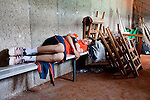 Roland Garros. Paris, France. June 1st 2012.A day with the ball boys..Nap time