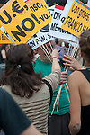 Protesters participate at an indignados demonstration in Madrid. 12 May 2012. (ALTERPHOTOS/Ricky)