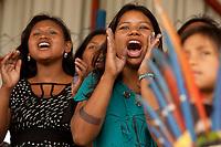 XI Jogos dos Povos Indígenas -   Com uma goleada de 4x0 os índios Xerente do Tocantins venceram a final do futebol  Kaigang do RS e comemoraram a vitória com a comunidade que torcia por sua vitória.<br /> <br />  O evento, que acontece entre os dias 5 e 12 de novembro, tem como sede o município tocantinense de Porto Nacional, que fica a cerca de 60km da capital, Palmas. São sete dias de competições e apresentações culturais, com a participação de cerca de 1.300 indígenas, de aproximadamente 35 etnias, vindas de todas as regiões do país. São esperados ainda líderes e observadores indígenas de outros países (Argentina, Austrália, Bolívia, Canadá, Equador, EUA, Guiana Francesa, Peru e Venezuela). Foto Paulo Santos10/11/2011Ilha de Porto Real, Porto Nacional, Brasil