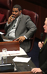 Nevada Senate Majority Leader Steven Horsford, D-North Las Vegas, listens on the Senate floor at the Legislature in Carson City, Nev., on Thursday, March 17, 2011..Photo by Cathleen Allison
