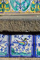 Kacheln an Treppe in Caltagirone, Sizilien, Italien