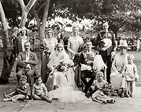 BNPS.co.uk (01202 558833)<br /> Pic: PhilYeomans/BNPS<br /> <br /> Society wedding - Cicely Winifred Goschen, daughter of the Governor, married Major Edward Bertram Portal in a spectacular wedding in November 1926.<br /> <br /> Last Days of the Raj - A fascinating family album from one of the last Viceroy's of India reveal Britain's 'Jewel in the Crown' in all its splendour.<br /> <br /> The family album of Viscount George Goschen has been unearthed after 90 years, and provide's an amazing snapshot of the pomp and pageantry of a wealthy and powerful British family in India in the 1920s and 30's.<br /> <br /> They show the Governor of Madras and his family enjoying a lavish lifestyle of parades, banquets and hunting and horse racing in the last decades of the Raj.<br /> <br /> At the time, Gandhi was organising peasants, farmers and labourers to protest against excessive land-tax and discrimination. <br /> <br /> The album consists of some 300 large photographs. They have remained in the family for 90 years but have now emerged for auction following a house clearance and are tipped to sell for &pound;200.