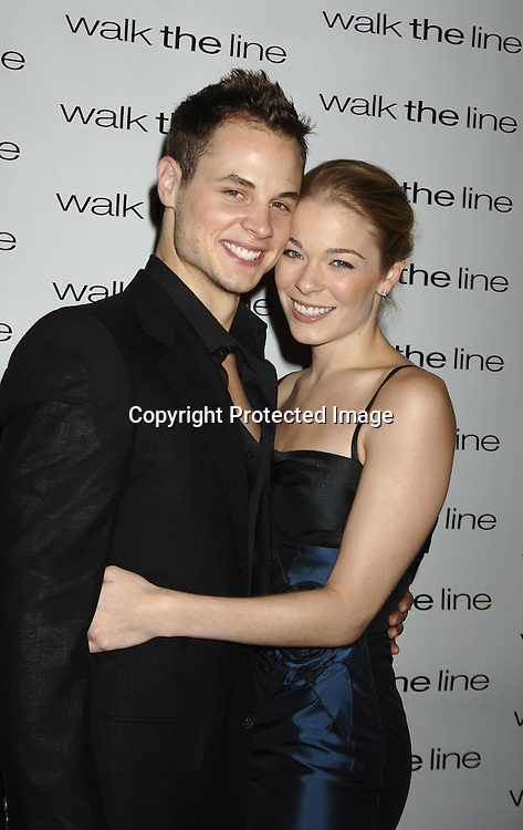 "LeAnn Rimes and husband Dean Sherement ..at The New York Premiere of ""Walk The Line"" on November 13, 2005 at The Beacon Theatre. ..Photo by Robin Platzer, Twin Images"