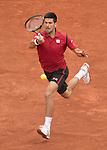 May 24, 2016:  Novak Djokovic (SRB) defeated Yen-Hsun Lu (TPE) 6-4, 6-1, 6-1 at the Roland Garros being played at Stade Roland Garros in Paris, .  ©Leslie Billman/Tennisclix/CSM