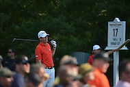 Bethesda, MD - June 29, 2014:  Ben Martin watches his tee shot on the 17th hole during the Final Round of the Quicken Loans National at the Congressional Country Club in Bethesda, MD, June, 29, 2014.   (Photo by Don Baxter/Media Images International)