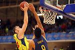 XXXVIII Lliga Nacional Catalana ACB 2017.<br /> FC Barcelona Lassa vs BC Morabanc Andorra: 89-70.<br /> David Jelinek vs Adam Hanga.