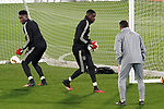 AFC Ajax's Andre Onana (l) and Bruno Varela during training session. February 19,2020.(ALTERPHOTOS/Acero)
