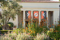 Thorne Hall and flowers, May 19, 2017.<br /> (Photo by Marc Campos, Occidental College Photographer)