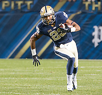 Pitt wide receiver Tyler Boyd. The Pittsburgh Panthers defeated the Notre Dame Fighting Irish 28-21 at Heinz Field, Pittsburgh, Pennsylvania on November 9, 2013.