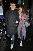 "Jason Milligan and Angela Griffin at the ""Home, I'm Darling"" press night, Duke of York's Theatre, St Martin's Lane, London, England, UK, on Tuesday 05th February 2019.<br /> CAP/CAN<br /> ©CAN/Capital Pictures"