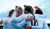 1st February 2019, Energia Park, Dublin, Ireland; Womens Six Nations rugby, Ireland versus England; Jess Breach of England celebrates her try with team mates 0 -5