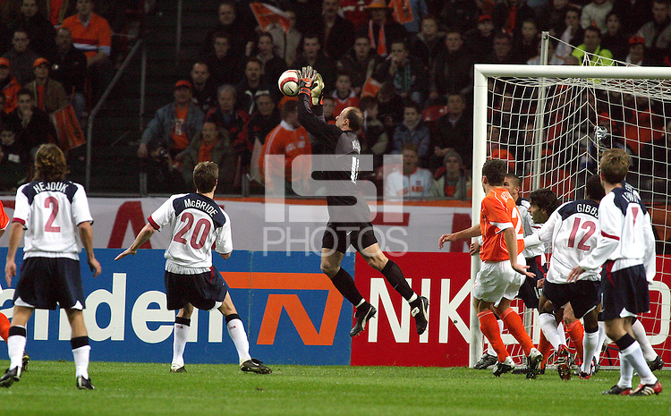 Kasey Keller, US Men's National Team vs Holland's National Team at ArenA in Amsterdam where Ajax plays..