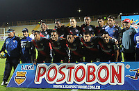 BOGOTA -COLOMBIA. 10-02-2014. Equipo del Atletico Junior contra Fortaleza FC   durante el partido por la cuarta fecha de La liga Postobon 1 disputado en el estadio de Techo. / Atletico Junior  against  Fortaleza FC during the match for the second date of the Postobon one league match at the Metrpolitano de Techo Stadium .Photo: VizzorImage/ Felipe Caicedo / Staff