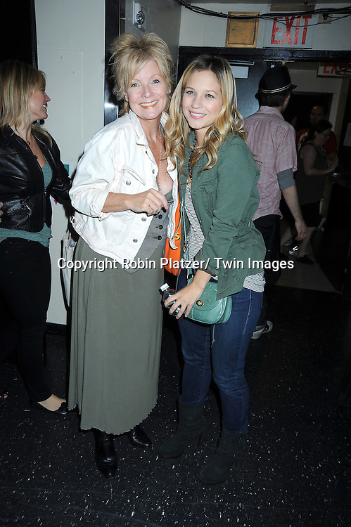 Ellen Dolan and Vanessa Ray posing for photographers at The Broadway Cares/ Equity Fights Aids 24th Annual Broadway Flea Market & Grand Auction on September 26, 2010 in Shubert Alley..photo by Robin Platzer/ Twin Images.212-935-0770