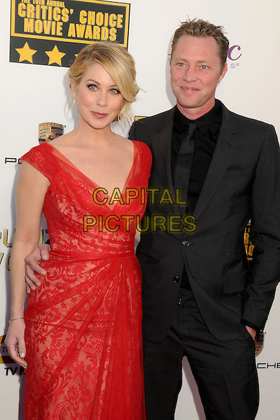 LOS ANGELES, CA - JANUARY 16:  - Christina Applegate, Martyn LeNoble. 19th Annual Critics' Choice Movie Awards held at Barker Hangar. <br /> CAP/ADM/BP<br /> &copy;Byron Purvis/AdMedia/Capital Pictures