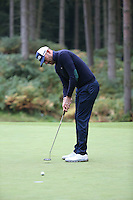 Gregory Havret (FRA) missing putt on the 11th during the Final Round of the British Masters 2015 supported by SkySports played on the Marquess Course at Woburn Golf Club, Little Brickhill, Milton Keynes, England.  11/10/2015. Picture: Golffile | David Lloyd<br /> <br /> All photos usage must carry mandatory copyright credit (© Golffile | David Lloyd)