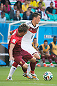 Fabio Coentrao (POR), Mesut Ozil (GER), JUNE 16, 2014 - Football / Soccer : FIFA World Cup Brazil 2014 Group G match between Germany 4-0 Portugal at Arena Fonte Nova in Salvador, Brazil. (Photo by Maurizio Borsari/AFLO)