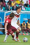 Fabio Coentrao (POR), Mesut Ozil (GER), JUNE 16, 2014 - Football / Soccer : FIFA World Cup Brazil 2014 Group G match between Germany 4-0 Portugal at Arena Fonte Nova in Salvador, Brazil. (Photo by Maurizio Borsari/AFLO)