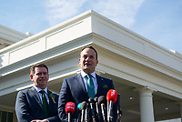 Minister of Ireland Leo Varadkar addresses the press after meeting with United States President Donald J. Trump at the White House. Credit: Erin Scott / CNP/AdMedia