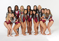 Stanford, CA - September 19, 2017:  Stanford Women's Gymnastics Photo Day at Ford Center.  Front row: Hailee Hoffman, Grace Garcia, Lauren Navarro, Kyla Bryant, Caroline Spertus, Ashley Tai, Rachael Flam. Back row: Taryn Fitzgerald, Elizabeth Price, Kaylee Cole, Taylor Lawson, Aleeza Yu, Catherine Rogers, Nicole Hoffman