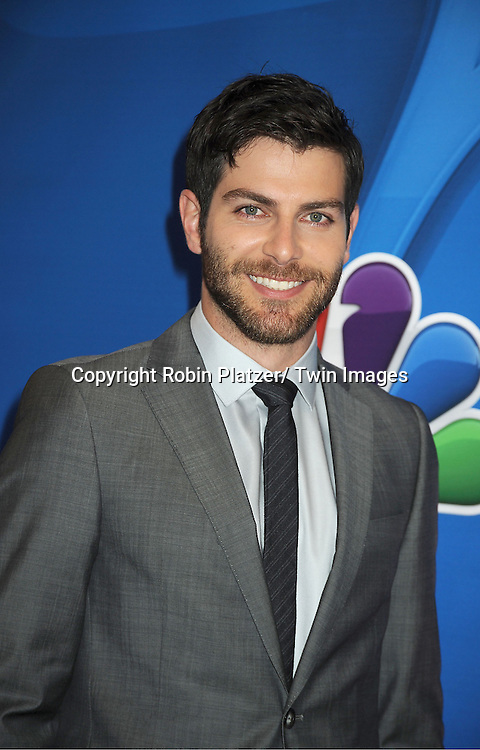 "David Giuntoli of ""Grimm""arrives at the NBC Upfront Presentation for 2013-2014 Season on May 13, 2013 at Radio City Music Hall in New York City."