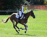 RF Demeter, with rider Marilyn Little (USA), competes during the Cross Country test during the Fair Hill International at Fair Hill Natural Resources Area in Fair Hill, Maryland on October 20, 2012.