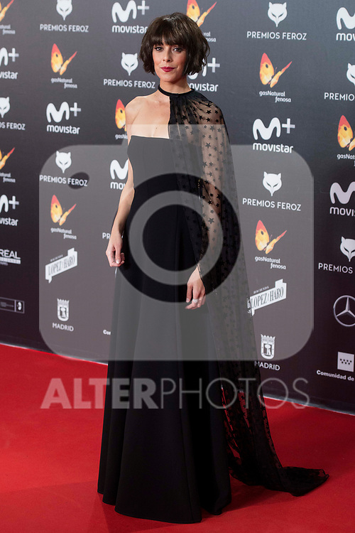 Belen Cuesta attends red carpet of Feroz Awards 2018 at Magarinos Complex in Madrid, Spain. January 22, 2018. (ALTERPHOTOS/Borja B.Hojas)