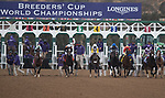 DEL MAR, CA - NOVEMBER 03: The field breaks from the gate during the the Longines Breeders\'92 Cup Distaffon Day 1 of the 2017 Breeders' Cup World Championships at Del Mar Thoroughbred Club on November 3, 2017 in Del Mar, California. (Photo by Michael McInally/Eclipse Sportswire/Breeders Cup)
