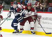 Tommy Fallen (Yale - 22), Kyle Criscuolo (Harvard - 11) - The visiting Yale University Bulldogs defeated the Harvard University Crimson 2-1 (EN) on Saturday, November 15, 2014, at Bright-Landry Hockey Center in Cambridge, Massachusetts.