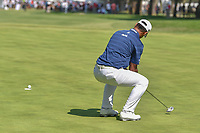Shubhankar Sharma (IND) reacts to barely missing his birdie attempt on 9 during round 4 of the World Golf Championships, Mexico, Club De Golf Chapultepec, Mexico City, Mexico. 3/4/2018.<br /> Picture: Golffile | Ken Murray<br /> <br /> <br /> All photo usage must carry mandatory copyright credit (&copy; Golffile | Ken Murray)