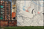 Italian street artist Francesco Camillo Giorgino, commonly known as Millo, creates lovely and huge doodles like murals. In 2014 he won an art prize to paint 13 big walls in Barriera di Milano, a popular district of the city of Torino (Italy).