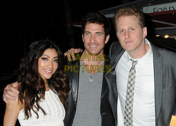 """Dylan McDermott, Michael Rapaport.2011 Los Angeles Film Festival Screening of """"Beats, Rhymes & Life: The Travels Of A Tribe Called Quest"""" held at the John Anson Ford Amphitheatre, Los Angeles, California, USA, .24th June 2011..half length grey gray tie white shirt jacket black leather .CAP/ADM/BP.©Byron Purvis/AdMedia/Capital Pictures."""