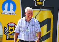 Jul 24, 2016; Morrison, CO, USA; Track owner John Bandimere Jr during the NHRA Mile High Nationals at Bandimere Speedway. Mandatory Credit: Mark J. Rebilas-USA TODAY Sports