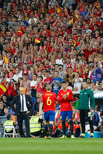 2nd September 2017, Santiago Bernabeu, Madrid, Spain; World Cup Qualifier, Group G; Spain versus Italy; Andres Iniesta is substituted during the qualifying match for the 2018 World Cup, Round 7