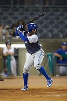 Seuly Matias (25) of the Lexington Legends at bat against the West Virginia Power at Appalachian Power Park on June 7, 2018 in Charleston, West Virginia. The Power defeated the Legends 5-1. (Brian Westerholt/Four Seam Images)