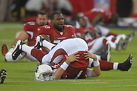 Aug 25, 2007; Glendale, AZ, USA; Arizona Cardinals quarterback Matt Leinart (7) stretches prior to the game against the San Diego Chargers at University of Phoenix Stadium. Mandatory Credit: Mark J. Rebilas-US PRESSWIRE Copyright © 2007 Mark J. Rebilas