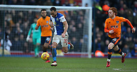 Blackburn Rovers' Elliott Bennett tracked by Oldham Athletic's Ben Pringle<br /> <br /> Photographer Stephen White/CameraSport<br /> <br /> The EFL Sky Bet League One - Blackburn Rovers v Oldham Athletic - Saturday 10th February 2018 - Ewood Park - Blackburn<br /> <br /> World Copyright &copy; 2018 CameraSport. All rights reserved. 43 Linden Ave. Countesthorpe. Leicester. England. LE8 5PG - Tel: +44 (0) 116 277 4147 - admin@camerasport.com - www.camerasport.com