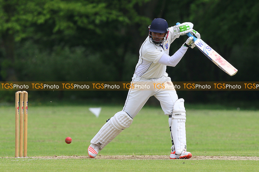 Haris Mahmood in batting action for Shenfield during Hornchurch CC vs Shenfield CC, Shepherd Neame Essex League Cricket at Harrow Lodge Park on 21st May 2016