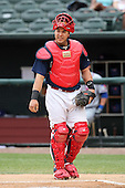 Memphis Redbirds catcher Tony Cruz #18 during a game versus the Round Rock Express at Autozone Park on April 30, 2011 in Memphis, Tennessee.  Memphis defeated Round Rock by the score of 10-7.  Photo By Mike Janes/Four Seam Images