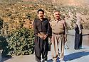 Iraq 1990.<br /> Sheikh Jaffar, right, with Kosrat Rasoul in Qara Dagh.<br /> Irak 1990.<br /> A droite, sheikh Jaffar avec Kosrat Rasoul dans le Qara Dagh