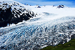 Exit Glacier from Harding Icefield Trail