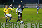 Classic FC's Ed Eacey and St Bernard's FC's James McCarthy.
