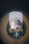 David Brandt's farm is reflected in the scale in the equipment garage on Brandt's 1,200-acre farm in central Ohio. Brandt grows corn, soy, wheat and hay on his farm that he runs with his wife, Kendra, in Carroll, Ohio. He has been practicing no-till farming since 1971, and has planted cover crops, such as winter peas, cabbage, clover and millet, which return nutrients to the soil, since 1978. His return to these traditional farming practices have allowed Brandt to drastically reduce his usage of fertilizers and pesticides, has increased the soil fertility and strengthened the land's tolerance to drought and excessive rain.